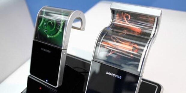 Samsung bringt biegsame Displays/Geräte