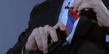 Video: Samsung zeigt biegsames Smartphone