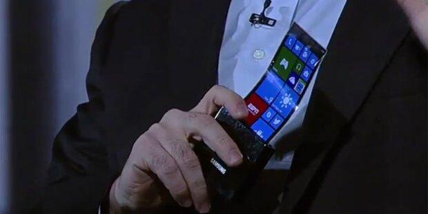 Samsung bringt erstes biegsames Smartphone