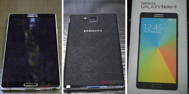 Galaxy Note 4: Fotos und Infos aufgetaucht