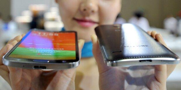 Das ist Samsungs gebogenes Smartphone