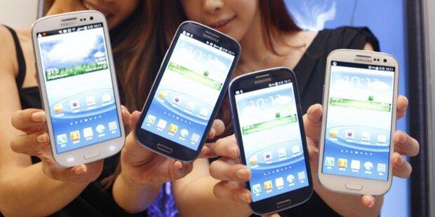 Samsung-Smartphones überlfügeln das iPhone