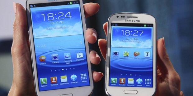 Samsung hängt Apple bei Smartphones ab