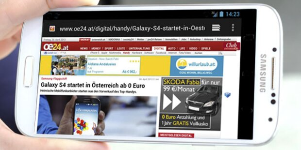 Das Samsung Galaxy S4 im oe24.at-Test