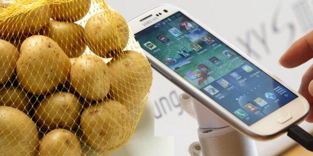 Österreicher bekam Erdäpfel statt Handys
