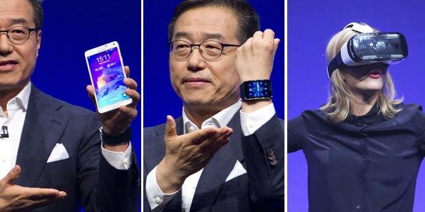 Note 4, Note Edge, VR-Brille & Smartwatch