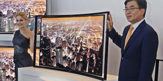Gebogene OLED-TVs starten in Österreich