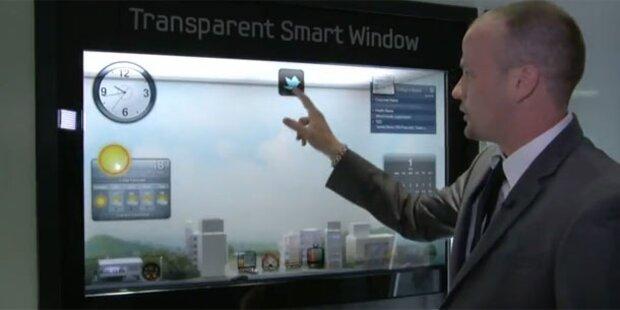 Samsung zeigt Fenster mit Touchscreen