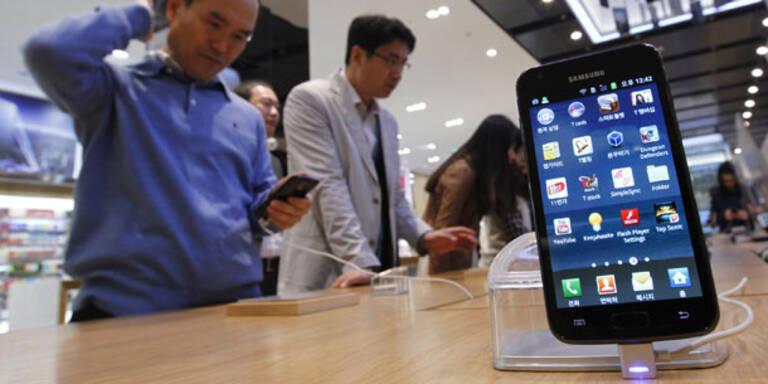 Samsung überholte Apple bei Smartphones