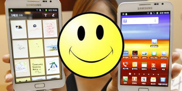 Samsung greift Apple mit Smiley-Patent an