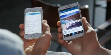Samsung zieht über das iPhone 6 her