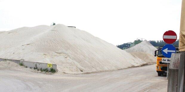 5 Tonnen Sand donnerten auf 3 Kinder