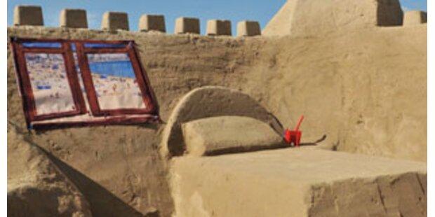 Erstes Sand-Hotel der Welt eröffnet