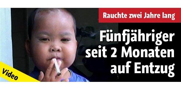 Fünfjähriger Raucher auf Entzug