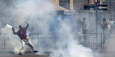 Proteste in Chile: Drei Tote bei Supermarkt-Brand