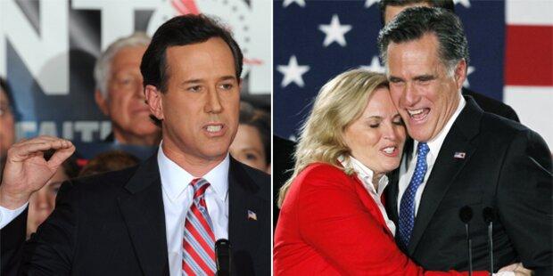 Hype um Außenseiter Santorum, Romney unaufhaltsam