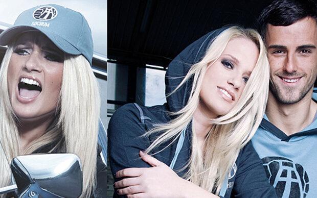 Sarah Knappik modelt für Fußballklub
