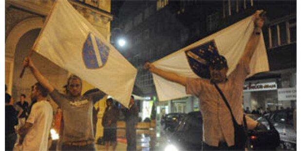 Feiern in Sarajevo nach Karadzic-Festnahme