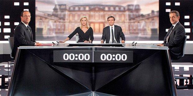 Sarkozy und Hollande liefern sich hartes TV-Duell