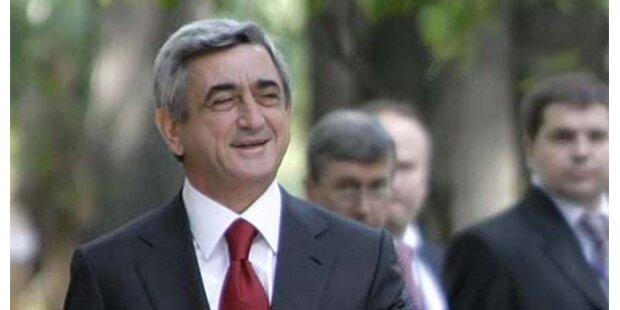 Armeniens Präsident in der Türkei