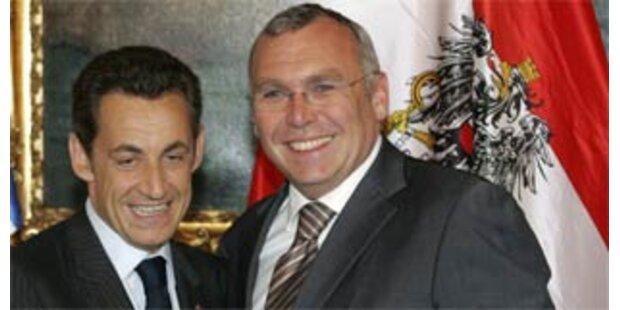 Sarkozy-Blitzbesuch in Wien
