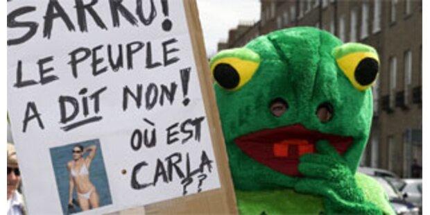 Proteste in Dublin gegen Sarkozy-Initiative