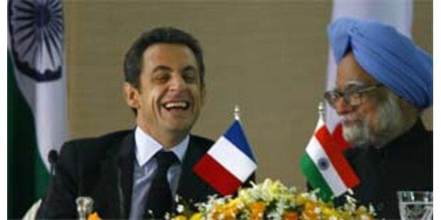 Sarkozy schließt Nuklear-Pakt mit Indien
