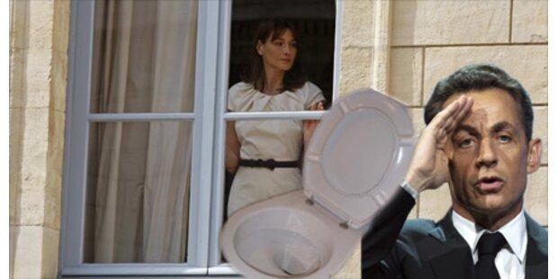 Sarkozy wegen Klo für Bruni unter Druck