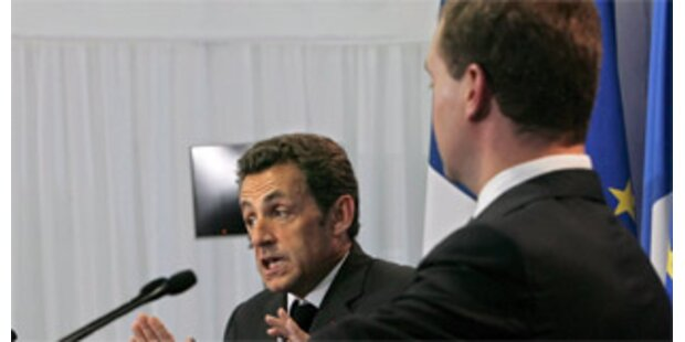 Sarkozy und Medwedew stritten um Truppenabzug