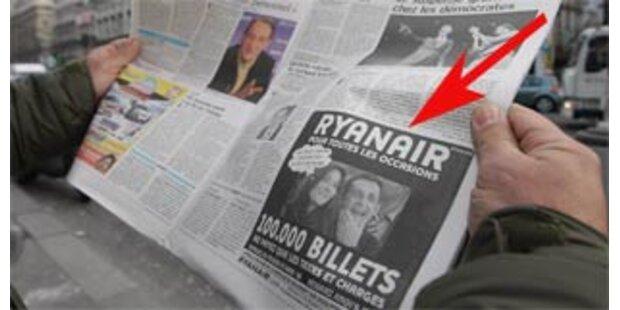 Sarkozy klagt Ryanair wegen Bruni-Werbung