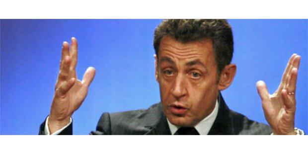 Sarkozy rastet im TV-Studio aus