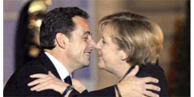 Merkel und Sarkozy nähern sich an