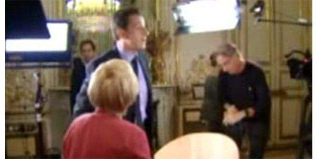 Sarkozy verließ TV-Interview aus Protest