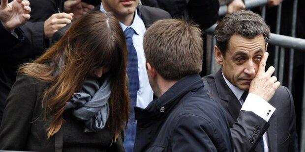 Sarkozys Partei sagt Siegesfeier ab