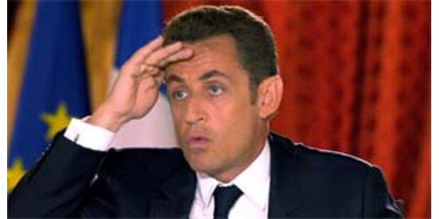 Sarkozy ist der unpopulärste Präsident Frankreichs