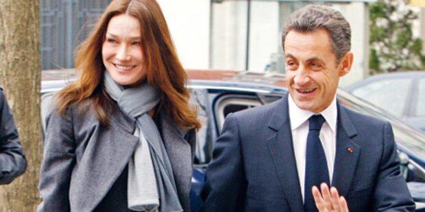 Sarkozy & Bruni: Turtel-Auftritt