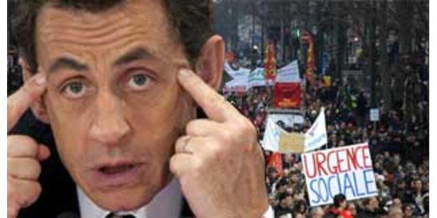 Mehr als eine Million streikt gegen Sarkozy