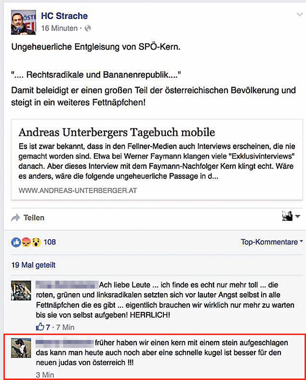 FPÖ Strache Posting