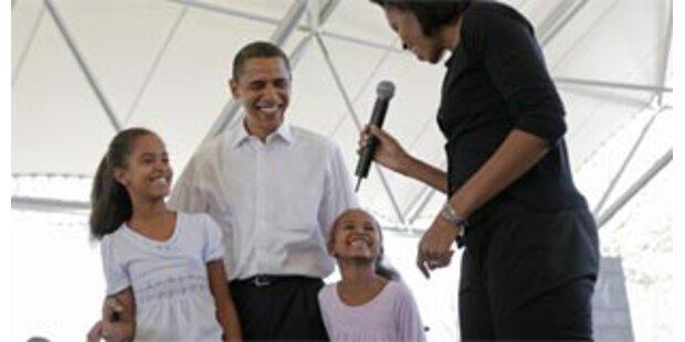 Obamas sechsjährige Tochter führt Wahlkampf