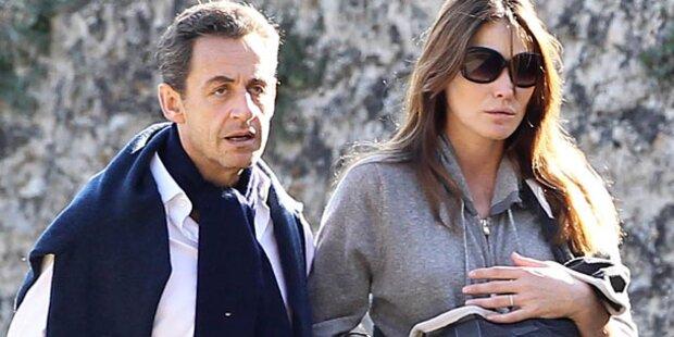 Nicolas Sarkozy plauscht über sein Baby