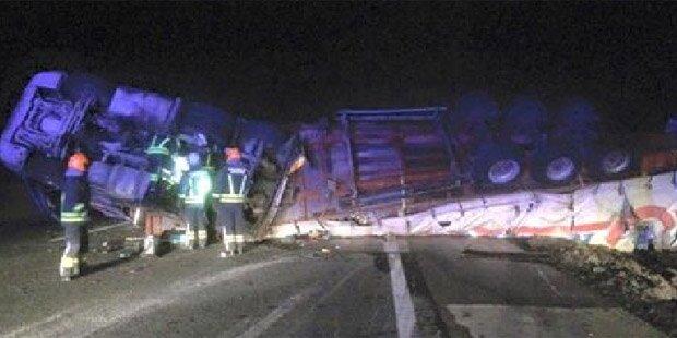 Westautobahn nach Lkw-Crash gesperrt