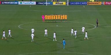 Eklat: Saudi-Kicker ignorierten Schweigeminute