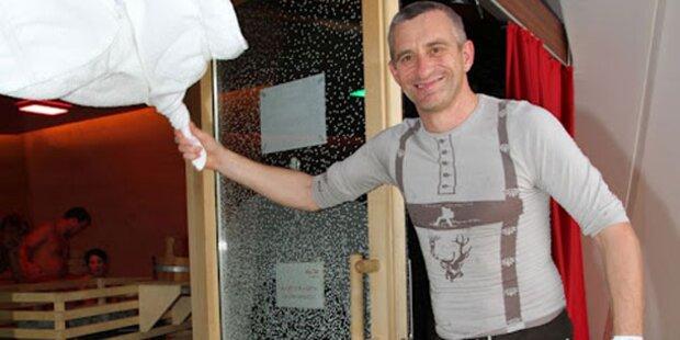 Schwitzen bei der Sauna-WM in Graz