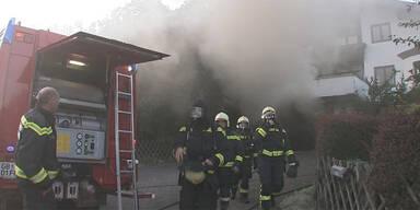 Sauna-Brand löst Großeinsatz aus