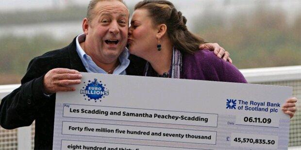 Lotto-Fluch: 3. Gewinner-Paar trennt sich