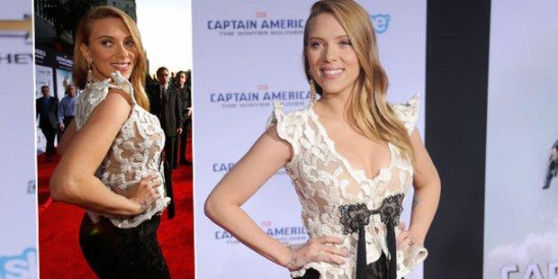 Scarlett Johansson zeigt Baby-Bauch & Dekolleté