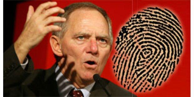 Fingerabdruck von Schäuble im Web publiziert