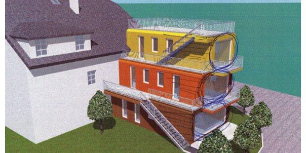 Wohnhaus im Schaumrollen-Design