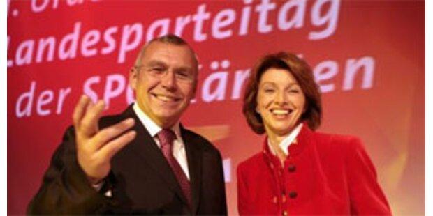 Schaunig als Kärntner SPÖ-Chefin klar bestätigt