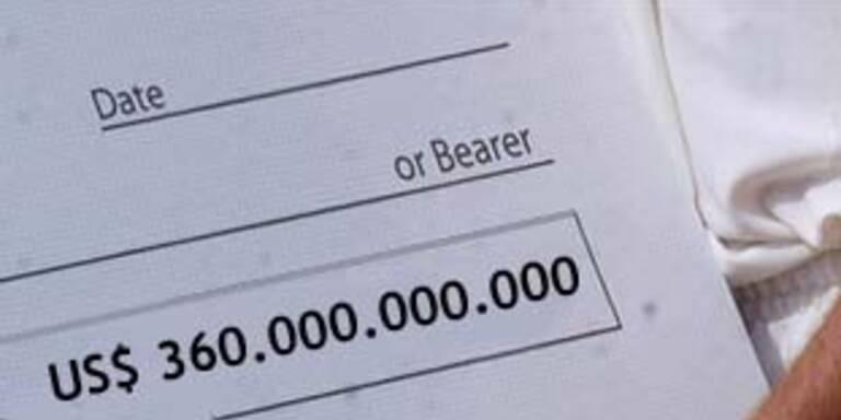 Mann wollte 360 Milliarden-Dollar-Scheck einlösen